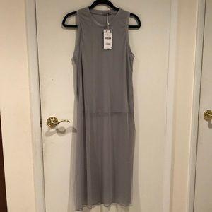 NWT Zara mesh tank dress size Large